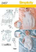 2457 Simplicity Pattern: Babies' Special Occasion & Christening